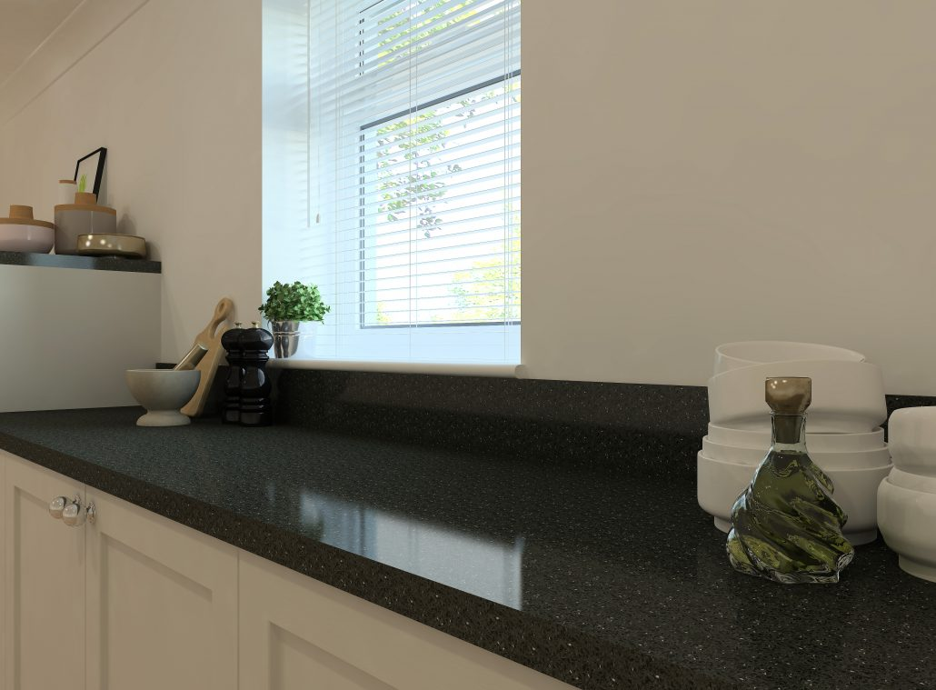 A realistic render of Stone Italiana's Brilliante Black by ArtiCAD